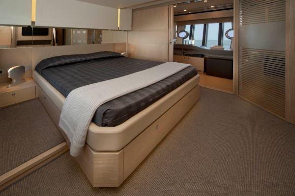 The Ferretti 720 - Master Cabin